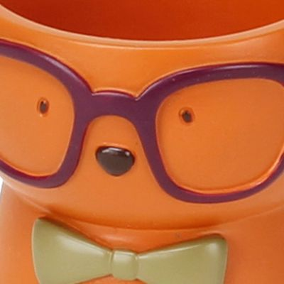 Bathroom Accessories: Orange Saturday Knight HIPSTER PAWS TUMBLER