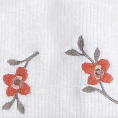 Luxury Bath Towels: Ivory Saturday Knight CORAL GARDEN BATH TWL