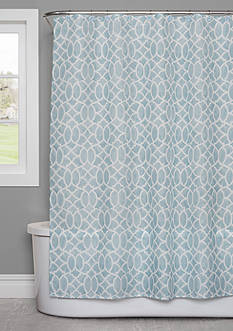 Saturday Knight Watercolor Lattice Shower Curtain