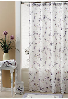 Croscill Pergola Collection Shower Curtain and Hooks - Sold Separately