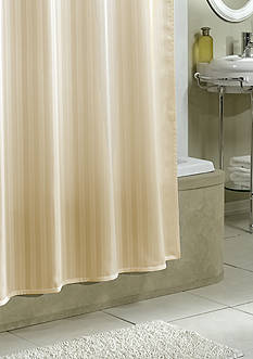 Excell Stripe Fabric Shower Curtain Liner