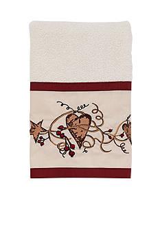 Avanti hearts & Stars Ivory Hand Towel