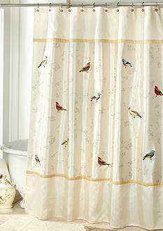 Avanti Gilded Birds Collection Bath Accessories and Shower Curtain