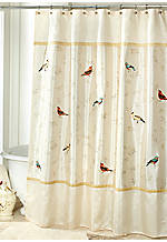 Gilded Birds Shower Curtain 72-in. x 72-in.