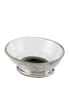 Avanti Crackle Glass Clear Soap Dish