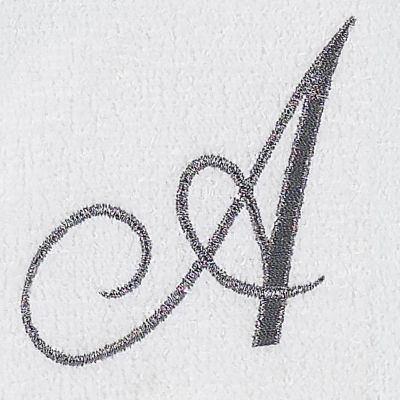 Luxury Bath Towels: A Avanti MONOGRAM TIP U