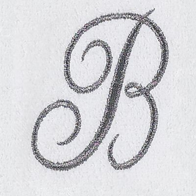 Decorative Bath Towels: B Avanti MONOGRAM TIP S
