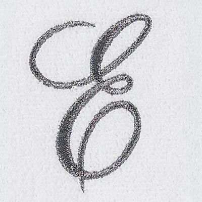Decorative Bath Towels: E Avanti MONOGRAM TIP L