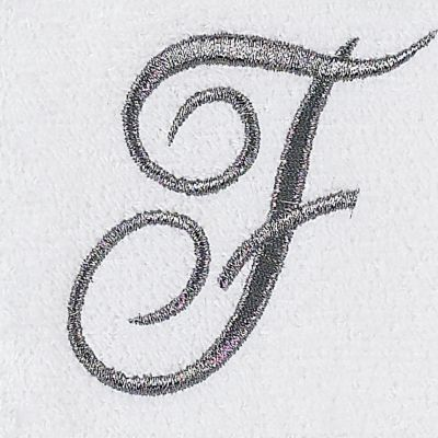 Decorative Bath Towels: F Avanti MONOGRAM TIP S