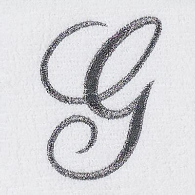 Decorative Bath Towels: G Avanti MONOGRAM TIP L