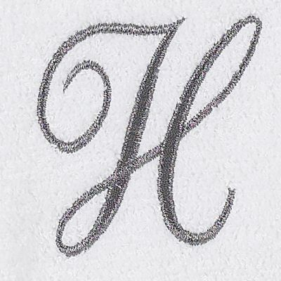 Decorative Bath Towels: H Avanti MONOGRAM TIP L