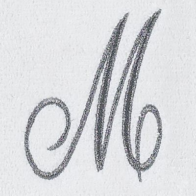 Decorative Bath Towels: M Avanti MONOGRAM TIP L