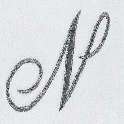 Decorative Bath Towels: N Avanti MONOGRAM TIP L