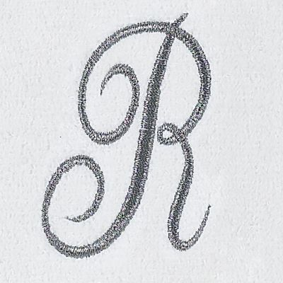 Decorative Bath Towels: R Avanti MONOGRAM TIP L