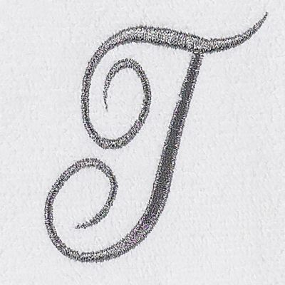Decorative Bath Towels: T Avanti MONOGRAM TIP L
