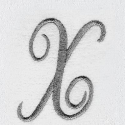 Decorative Bath Towels: X Avanti MONOGRAM TIP L