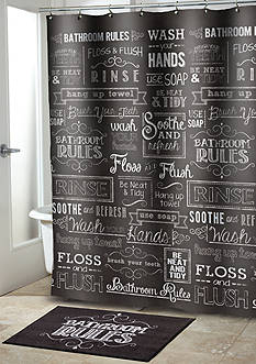 Avanti Chalk It Up Shower Curtain - Online Only