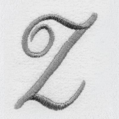 Decorative Bath Towels: Z Avanti MONOGRAM TIP L