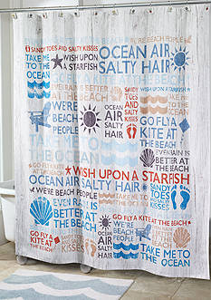 Avanti BEACH SHOWER CURTAIN