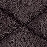 Bath Mats: Granite Avanti Splendor Solid Color Black Rug 21x34
