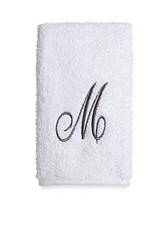 Avanti Pre White/Silver Script Monogram Bath - M