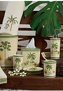 Avanti Catesby Palm Collection Bath Accessories, Shower Curtain, and Rug - Online Only