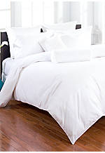 Crisp White Simplicity Stitch King Duvet 108-in. x 96-in.