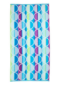 Home Accents Jacquard Retro Dot Beach Towel