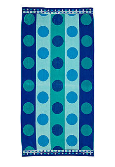 Home Accents Jaquard Dotted Stripe Beach Towel