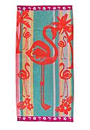 Home Accents® Jacquard Flamingo Flip Beach Towel