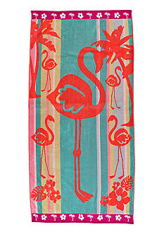 Home Accents Jacquard Flamingo Flip Beach Towel