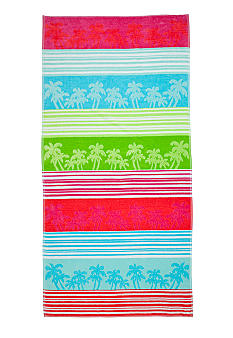 Home Accents Jacquard Linear Palm Beach Towel