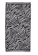 Home Accents® Jacquard Zebra Dot Beach Towel