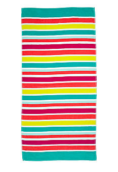 Home Accents Jacquard Sorbet Stripe Beach Towel
