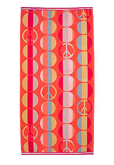 Home Accents Jacquard Peace Sign Dot Beach Towel