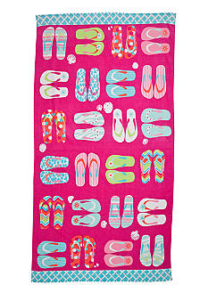 Home Accents Flip Flop Fun Beach Towel