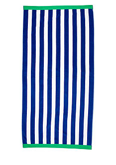 Home Accents Navy Stripe Saver Beach Towel