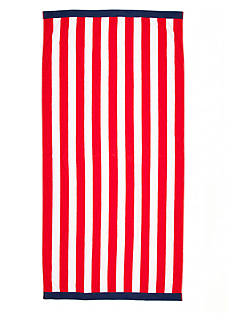 Home Accents Red Stripe Saver Beach Towel