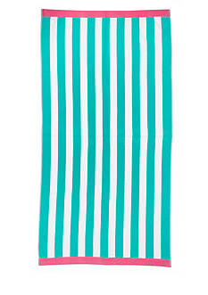 Home Accents Navy Stripe Saver Beach Towel