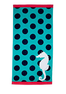 Home Accents Seahorse Dot Beach Towel