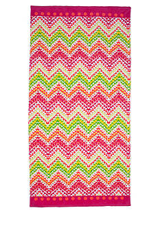 Home Accents Feathered Chevron Beach Towel