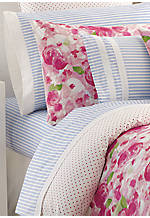 Rose Cottage Twin Sheet Set - Flat 96-in. x 66-in, Fitted 75-in. x 39-in, Pillowcase 26-in. x 30-in.