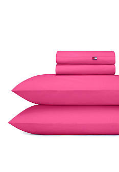 Tommy Hilfiger Petal Pink Sheet Set - Online Only
