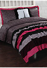 Leigh Ann Ruffle Full/Queen Comforter Set 86-in. x 86-in with Shams 20-in. x 26-in.