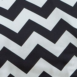 Childrens Bedding: Black/White Seventeen CHEVRON DREAMS DECS