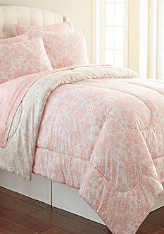 Shavel Micro Flannel Enchantment Rose King Comforter Set