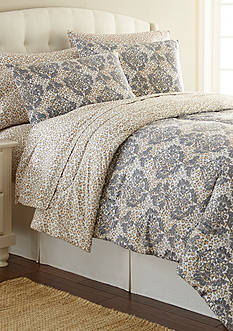 Shavel MICRO FLANNEL LEOPARD DAMASK KING CSET