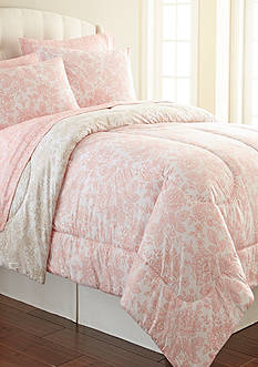Shavel Micro Flannel Enchanment Rose Twin Comforter Set