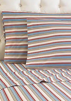 Shavel Micro Flannel Awning Stripe Sheet Set - Online Only