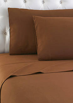 Shavel Micro Flannel Chestnut Queen Sheet Set